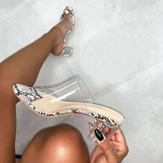 Women's PU Chunky Heel Sandals Pumps With Others shoes