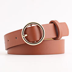 Classic O-ring Buckle Alloy PU Women's Belts