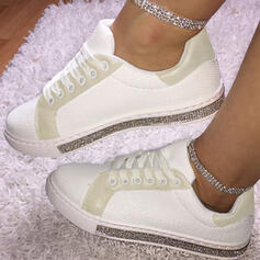 Women's PU With Rhinestone Lace-up shoes