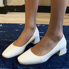 De mujer PU Tacón ancho Salón Punta cuadrada zapatos