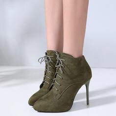 De mujer Ante Tacón stilettos Cima mas alta con Cordones Otros zapatos