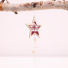 Christmas Merry Christmas Hanging Star Wooden Tree Hanging Ornaments Christmas Ornements