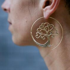 Simple Life Tree Alloy Women's Earrings 2 PCS
