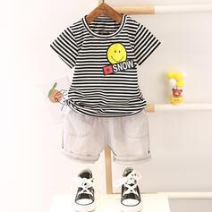 2-pieces Baby Boy Cartoon Striped Cotton Set