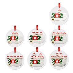 Christmas Decorative Santa Hanging 2020 Survivor Acrylic Tree Hanging Ornaments Christmas Ornements
