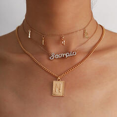 Beautiful Fashionable Vintage Alloy With Rhinestone Women's Ladies' Necklaces 3 PCS