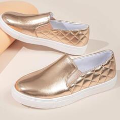 De mujer PU Tacón plano Planos con Color sólido zapatos