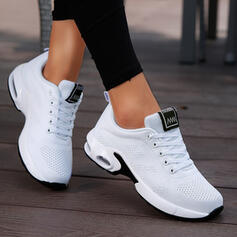 Women's Fabric Flat Heel Flats Low Top Sneakers With Lace-up Solid Color shoes
