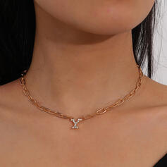 Beautiful Fashionable Classic Alloy With Rhinestone Women's Ladies' Necklaces 1 PC