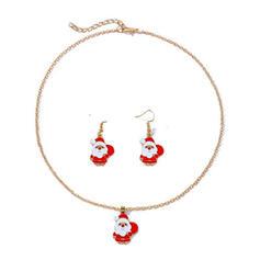 Christmas Christmas Santa Alloy Women's Ladies' Girl's Necklaces Earrings Christmas Jewelry 3 PCS