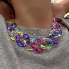 Fashionable Vintage Plastic With Acrylic Women's Ladies' Necklaces 1 PC