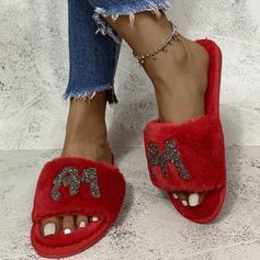 Women's Suede Flat Heel Sandals Slippers With Hollow-out Tassel shoes