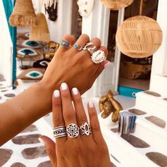 Boho Hottest Alloy Women's Ladies' Rings 7 PCS