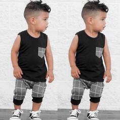2-pieces Baby Boy Plaid Set