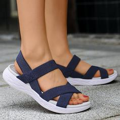Women's PU Wedge Heel Sandals Peep Toe With Solid Color shoes