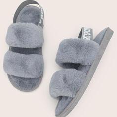 De mujer Cuero Tacón plano Encaje con Piel zapatos