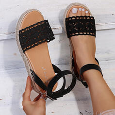 Women's Lace Flat Heel Sandals Wedges With Hollow-out shoes