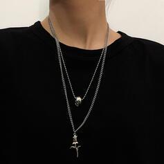 Fashionable Vintage Alloy With floral Women's Ladies' Men's Unisex Necklaces 2 PCS