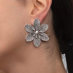 Attractive Charming Elegant Delicate Alloy With Flowers Women's Ladies' Earrings