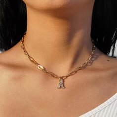 Fashionable Classic Alloy With Rhinestone Women's Ladies' Necklaces 1 PC