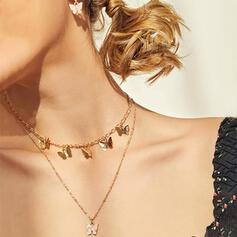 Diseño de la mariposa Aleación Resina con De la mariposa Sistemas de la joyería Collares Pendientes 3 PIEZAS