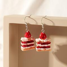 Fruit Resin With Fruit Women's Earrings 2 PCS