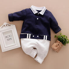 Baby Colourblock Button Print Cotton One-piece