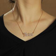 "Shining ""Aries"" Alloy Rhinestones Women's Ladies' Necklaces"