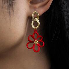 With Flowers Women's Ladies' Earrings 2 PCS