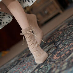 Women's Suede Stiletto Heel Chelsea Boots With Lace-up Solid Color shoes