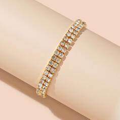 Luminoso Simple Aleación Diamantes de imitación con Diamantes de imitación Pulseras