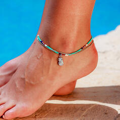 Boho Alloy Anklets (Set of 2)