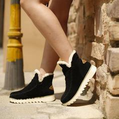 De mujer Ante Tacón plano Planos con Color de empalme zapatos