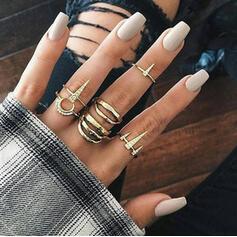 Exotic Romantic Alloy Women's Rings 6 PCS