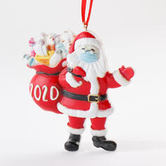 Christmas Decorative Santa Hanging 2020 Survivor Resin Tree Hanging Ornaments Christmas Ornements