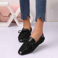 De mujer Ante Tacón plano Planos con Cordones Agujereado Color sólido zapatos