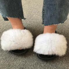 De mujer Piel sintética Tacón plano Sandalias Encaje con Piel zapatos