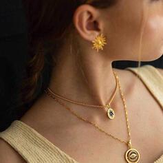 Fantasía Delicado Aleación Diamantes de imitación con Dom Pendientes 2 piezas