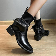 Women's Leatherette Boots High Top With Solid Color shoes