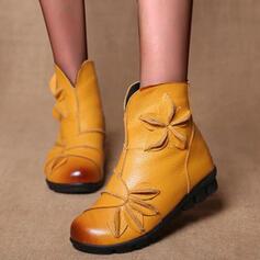 De mujer Cuero Tacón plano Planos con Agujereado Color de empalme zapatos