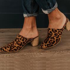 De mujer Ante Tacón ancho Salón Dedo del pie puntiagudo con Otros zapatos