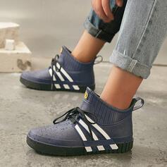 De mujer PVC Tacón plano Planos con Color de empalme Vendaje zapatos