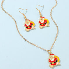 Lovely Christmas Christmas Santa Alloy Women's Ladies' Jewelry Sets 3 PCS