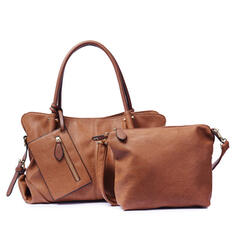Solid Color/Multi-functional Tote Bags/Crossbody Bags