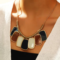 Fashionable Boho Alloy Resin Women's Ladies' Necklaces
