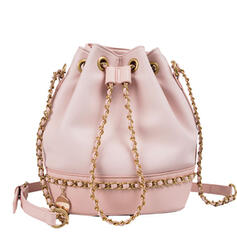 Unique/Shell Shaped/Commuting/Splice Color Crossbody Bags/Shoulder Bags/Bucket Bags/Hobo Bags