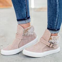 De mujer Lona Tacón plano Planos con Hebilla zapatos