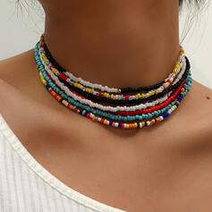 Fashionable Sexy Vintage Beads With Beads Women's Ladies' Necklaces 7 PCS