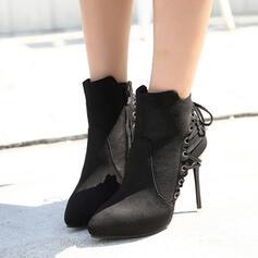 De mujer Ante Tacón stilettos Cima mas alta con Cremallera Cordones Otros zapatos