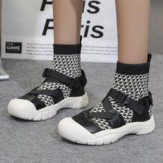 Women's Flying Weave Low Heel Mid-Calf Boots shoes